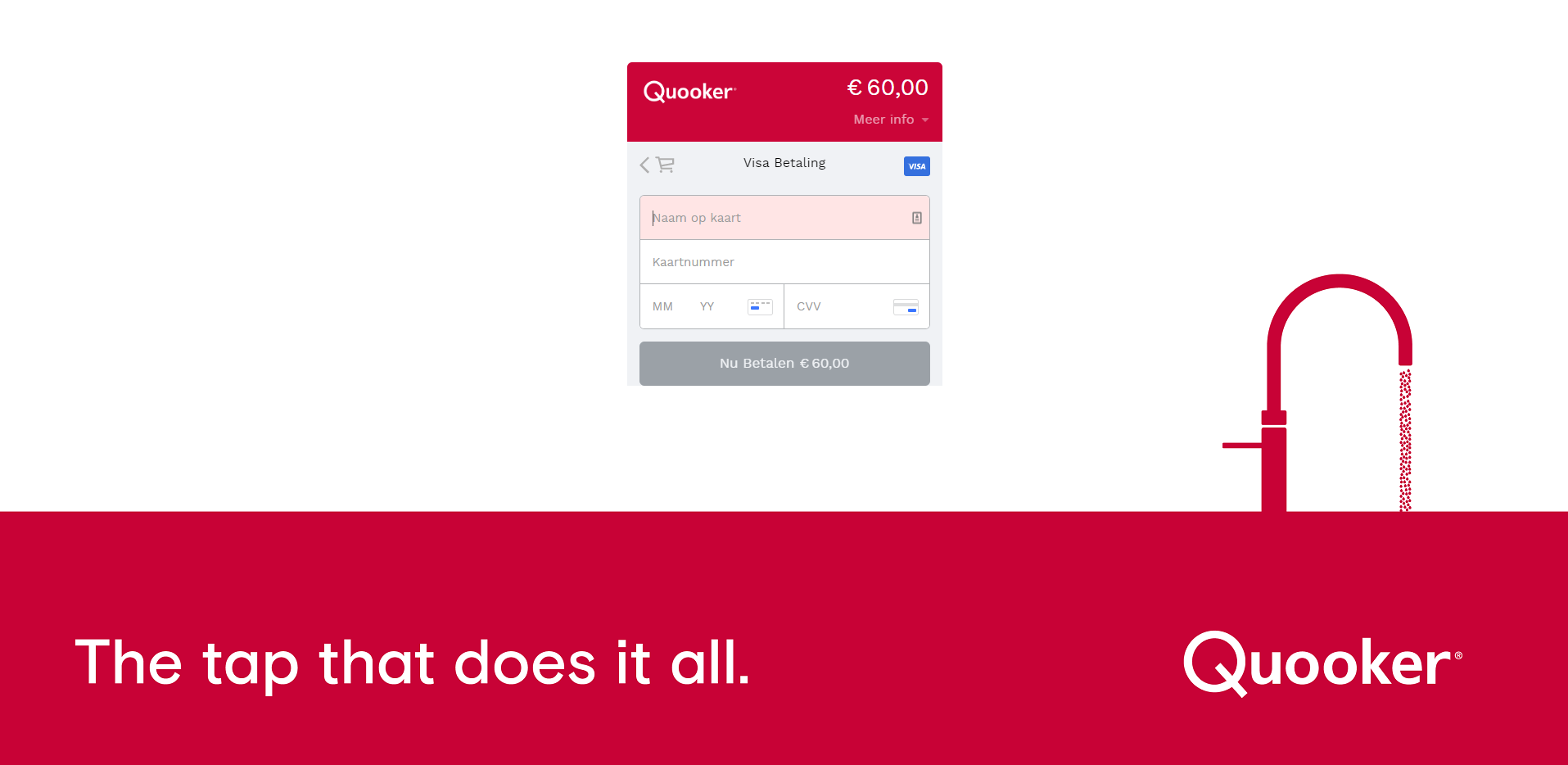 Quooker's Smart Checkout