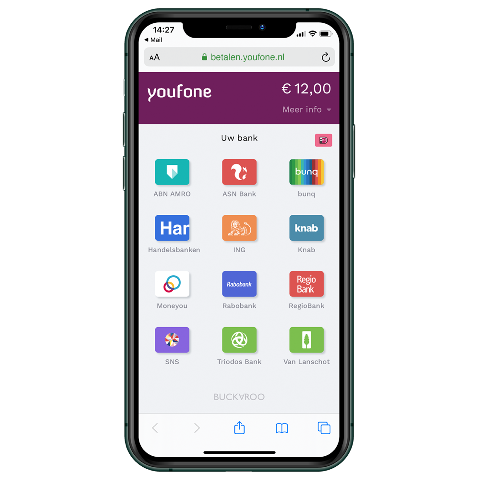 Youfone customized mobile checkout incl. custom domain URL